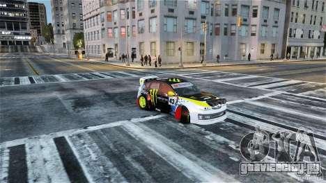 Subaru Impreza WRX STI Rallycross Monster Energy для GTA 4 вид справа