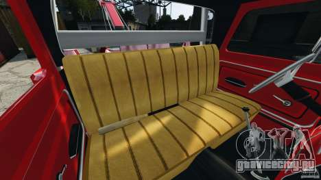Chevrolet C20 Towtruck 1966 для GTA 4 вид изнутри