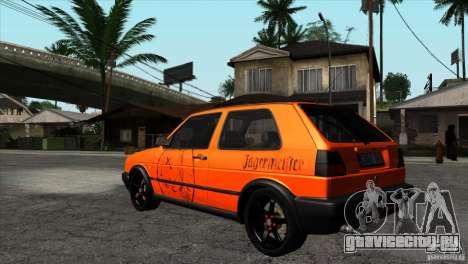 VW Golf 2 для GTA San Andreas вид сбоку