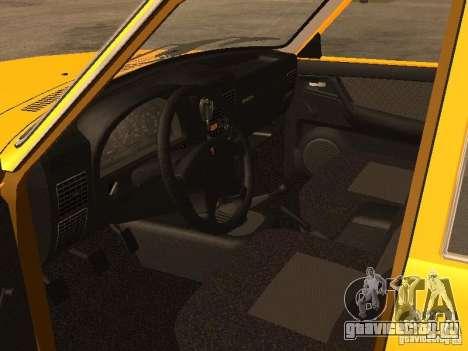 ГАЗ-31105 Волга Такси для GTA San Andreas вид изнутри