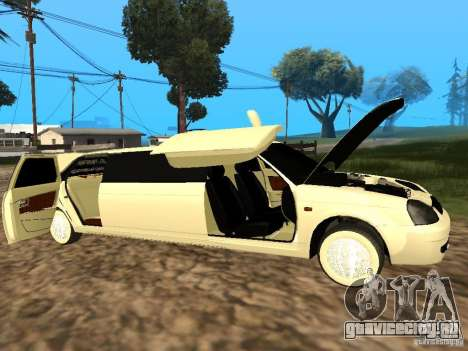 ВАЗ 2170 Приора Лимузин для GTA San Andreas вид справа