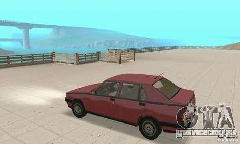 Alfa Romeo 75 для GTA San Andreas вид справа