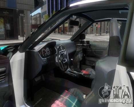 Nissan Silvia S14 Matt Formula Drift для GTA 4 вид изнутри