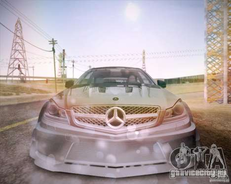 Mercedes-Benz C63 AMG Black Series для GTA San Andreas вид справа