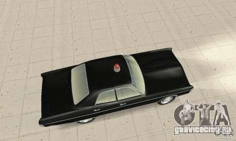 Plymouth Fury III Police для GTA San Andreas вид сзади слева