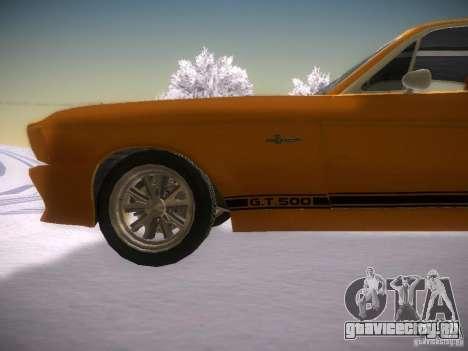 Shelby GT500 Eleanor для GTA San Andreas вид слева