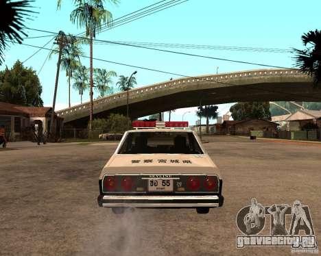 Nissan Skyline 2000 GT Police для GTA San Andreas вид сзади слева