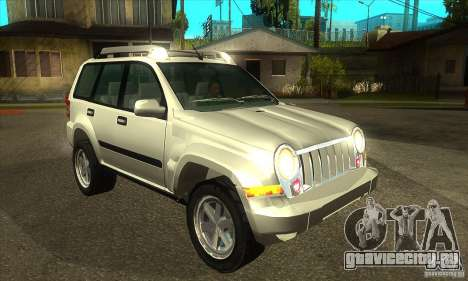Jeep Liberty 2007 для GTA San Andreas вид сзади