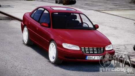 Opel Omega 1996 V2.0 First Public для GTA 4 вид сзади