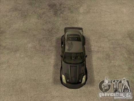 Nissan 350Z DK from FnF 3 для GTA San Andreas вид справа