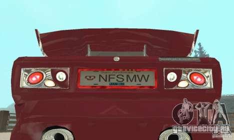 ВАЗ 2107 Ex Tuning для GTA San Andreas вид сзади
