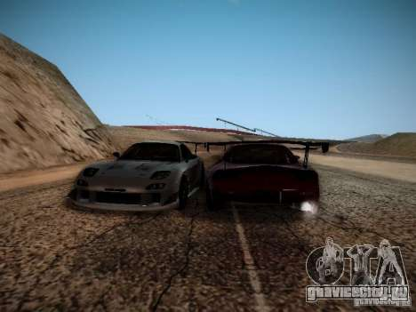 Mazda RX7 Drift для GTA San Andreas вид сзади