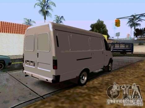 ГАЗель 2705 1994 для GTA San Andreas вид сзади слева