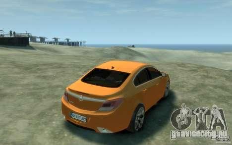 Opel Insignia OPC 2010 для GTA 4 вид справа