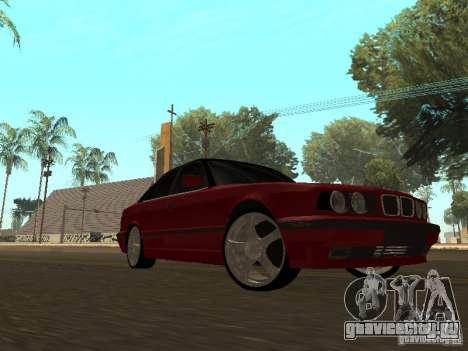 BMW 540i E34 для GTA San Andreas вид слева