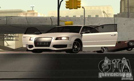 Audi S3 Full tunable для GTA San Andreas вид сзади