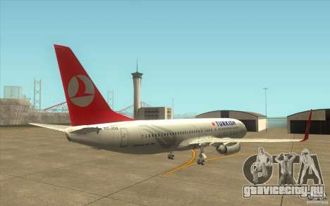 Boeing 737-800 THY для GTA San Andreas вид справа