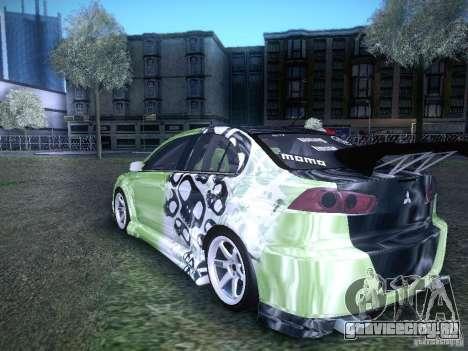 Mitsubishi Lancer Evolution X - Tuning для GTA San Andreas вид слева