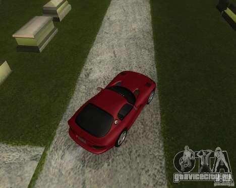 Dodge Viper GTS Coupe для GTA San Andreas вид сзади слева