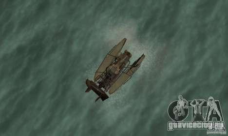 HL2 Airboat для GTA San Andreas вид справа