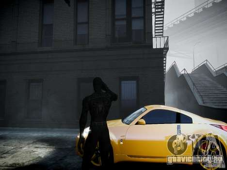 Spider Man Black Suit для GTA 4