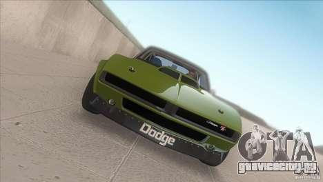 Dodge Charger RT SharkWide для GTA San Andreas вид изнутри