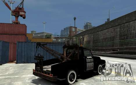 Black Towtruck для GTA 4 вид справа