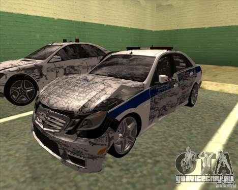 Mercedes-Benz E63 AMG W212 для GTA San Andreas вид сбоку