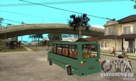 ПАЗ 3203 для GTA San Andreas вид сзади слева