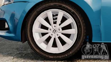 Volkswagen Voyage G6 2013 для GTA 4 вид сзади