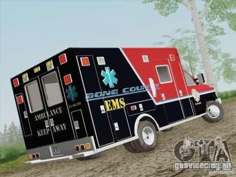 Ford E-350 AMR. Bone County Ambulance для GTA San Andreas вид справа