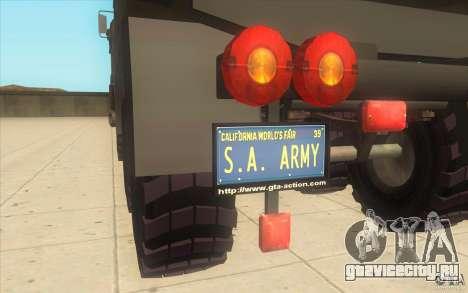 IFA 6x6 Army Truck для GTA San Andreas вид справа