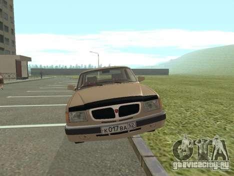 ГАЗ 3110 Волга для GTA San Andreas вид сзади слева