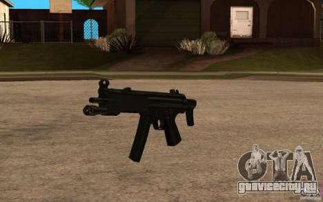 Новая MP5 с фонариком для GTA San Andreas