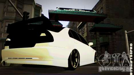 Mitsubishi Lancer Evolution 6 для GTA San Andreas вид сзади слева