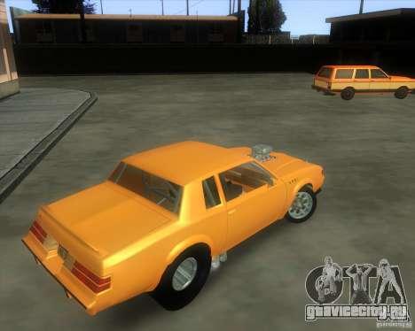 Buick GNX pro stock для GTA San Andreas вид сзади