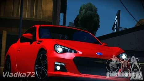 Subaru BRZ S 2012 для GTA San Andreas вид сбоку
