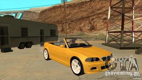 BMW E46 M3 Cabrio для GTA San Andreas вид сзади