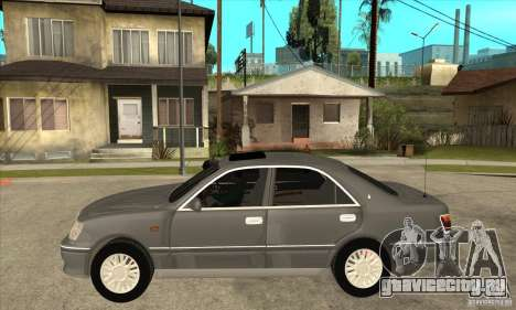 Toyota Crown Majesta S170 для GTA San Andreas вид изнутри