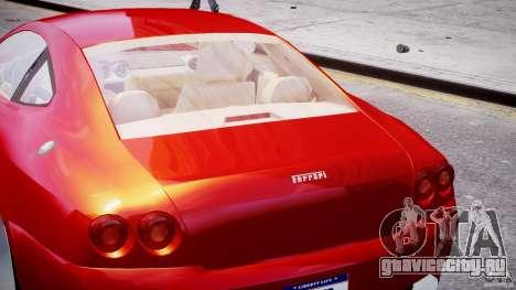 Ferrari 612 Scaglietti custom для GTA 4 салон