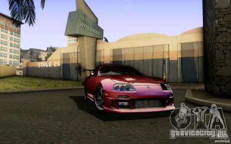 Toyota Supra Top Secret для GTA San Andreas вид сзади