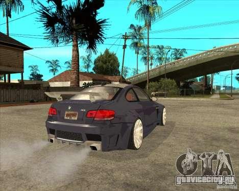 BMW M3 E92 TUNED для GTA San Andreas вид сзади слева