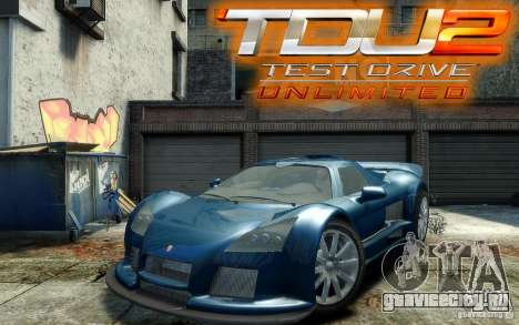 Gumpert Apollo Sport для GTA 4 вид сзади
