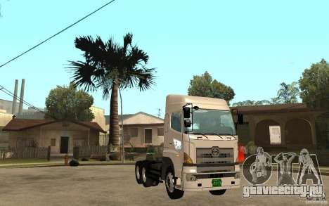 Hino 700 Series для GTA San Andreas вид сзади