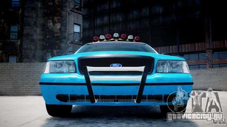 Ford Crown Victoria Classic Blue NYPD Scheme для GTA 4 салон