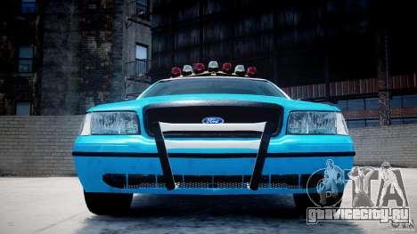 Ford Crown Victoria Classic Blue NYPD Scheme для GTA 4 салон