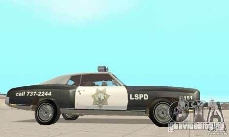 Chevrolet Monte Carlo 1970 Police для GTA San Andreas вид справа
