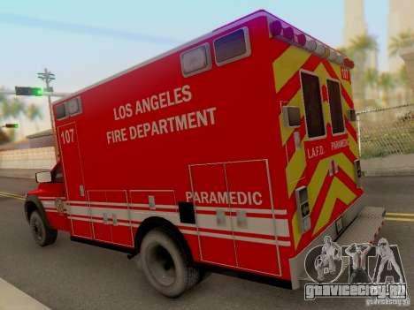 Dodge Ram 1500 LAFD Paramedic для GTA San Andreas вид сзади слева