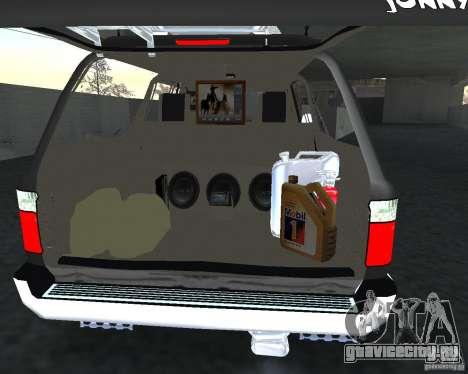 Toyota Surf v2.1 для GTA San Andreas вид снизу