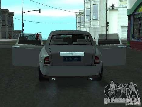 Rolls-Royce Phantom Limousine 2003 для GTA San Andreas вид сзади